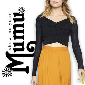 SMYM Connie Top Long Sleeve Cropped Solid Black